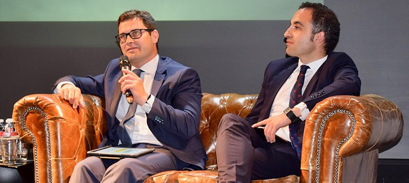 Ramiro Mirones (Ernst & Young) y Enrique Robles (Blue Indico -a BBVA Tech Company)