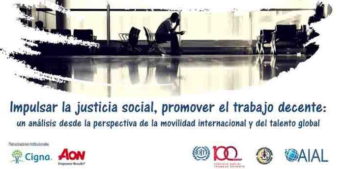Impulsar la justicia social, promover el trabajo decente