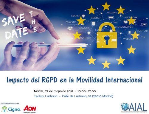 Save the date – Impacto del RGPD en la Movilidad Internacional